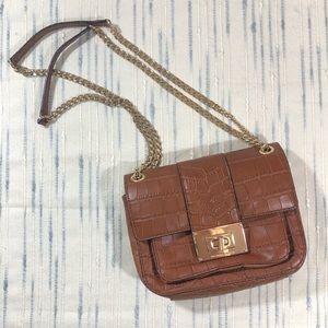 Michael Kors Brown Leather Chain Strap Crossbody
